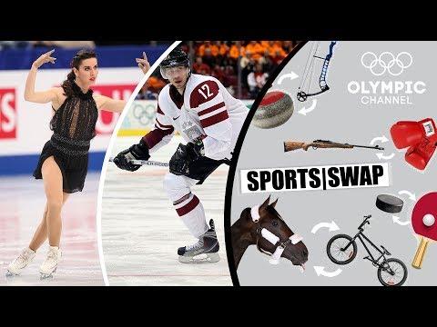 Figure Skating Vs Ice Hockey With Marchei & Vasiljevs | Sports Swap