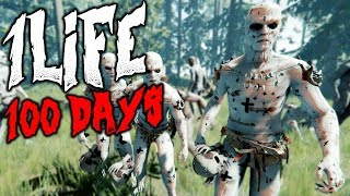 1 LIFE 100 DAYS | The Forest | 1 Life Challenge
