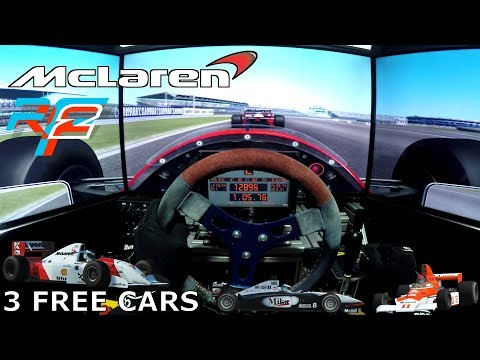 rFactor 2 - 3 FREE HISTORIC McLaren F1 Cars [OSW SimuCube + FREX H Shifter]  - Let's GO RACE