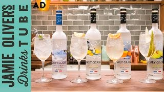 The refreshing Grey Goose Le Grand Fizz cocktail collection Made with Grey