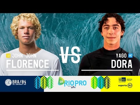 John John Florence vs. Yago Dora - Round Three, Heat 6 - Oi Rio Pro 2017