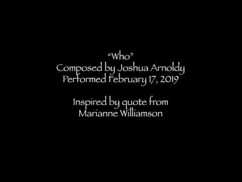 """Who"" for 8 voices & percussion composed by Joshua Arnoldy and premiered on Feb. 17, 2019."