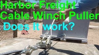 Does it work? Harbor Freight Cable Winch Puller (30131)