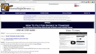 Free Tennessee Divorce Papers and Forms