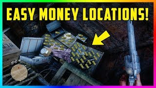 10 EASY Money Locations With TONS Of Gold Bars, RARE Loot & MORE In Red Dead Redemption 2! (RDR2)