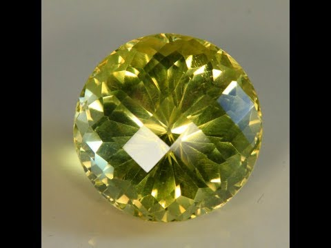 Round Checkerboard cut Citrine 79 Carats