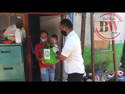 Direktorat Resnarkoba Polda Bali Bagikan Sembako Gratis