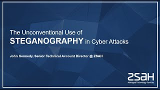 The Unconventional Use of Steganography in Cyberattacks