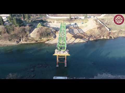 Aktuelni radovi na pješačkom, cijevnom i biciklističkom mostu na Morači