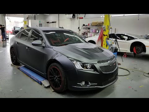 Chevy Cruze Wrapped In Matte Metallic Black