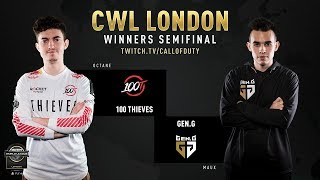 100 Thieves vs Gen.G | CWL London 2019 | Day 2