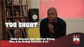 Too $hort - Memorable Studio Moment With The Fast Writing 2Pac (247HH Exclusive)