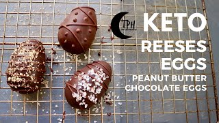 Keto Reeses Peanut Butter Eggs | Low-Carb Chocolate Peanut Butter Candy Recipe