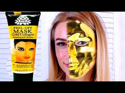 ЗОЛОТАЯ МАСКА Gold Mask Collagen Peel of Mask ТЕСТ ДРАЙВ Золотой маски с алиекспресс Миссбьютимама