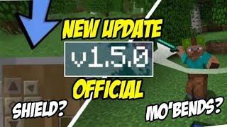 NEW UPDATE !! MCPE v1.5.0 OFFICIAL - ADA SHIELD DAN MO'BENDS ? 😱 MinecraftPE Indonesia