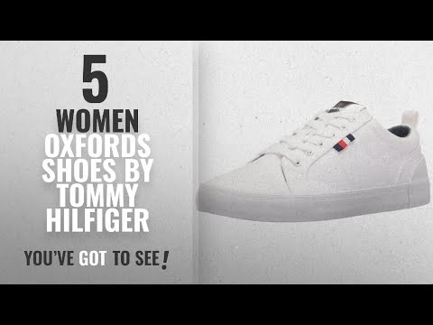 Top 5 Tommy Hilfiger Women Oxfords Shoes [2018]: Tommy Hilfiger Women's Priss Sneaker, White, 6