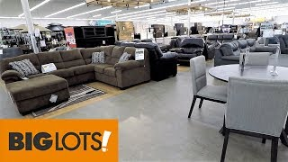 BIG LOTS FURNITURE SOFAS HOME DECOR - SHOP WITH ME SHOPPING STORE WALK THROUGH 4K