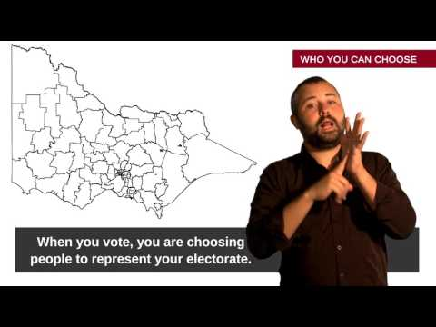Image of the video: Australian Sign Language Guide to Voting in Victorian Elections