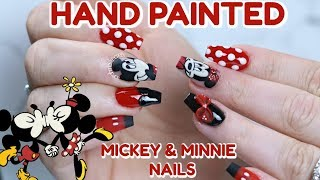 DISNEY NAIL TUTORIAL | MICKEY & MINNIE MOUSE NAILS