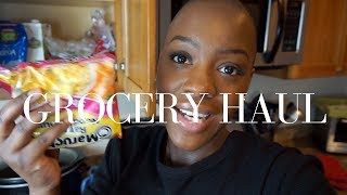 Grocery Haul for One   $50 Monthly Budget   STACEY FLOWERS