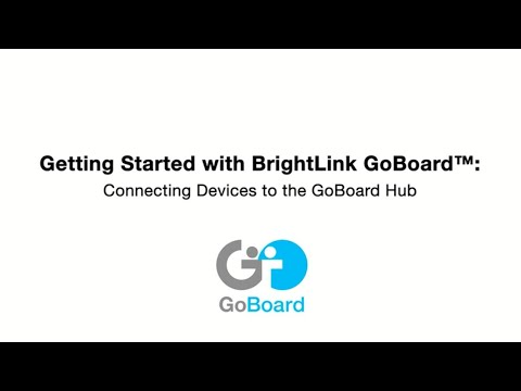 #9 Connecting Devices to the GoBoard Hub