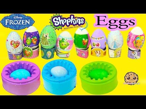 Nail Polish Painting Disney Frozen + Shopkins Easter Eggs DIY Dye Kit – Cookieswirlc Craft Video