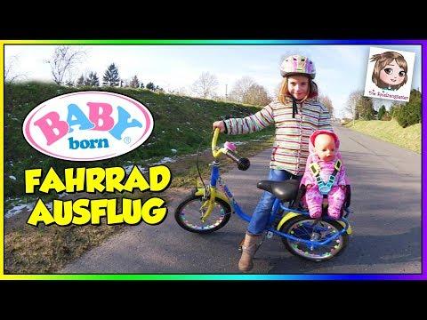 BABY BORN AUSFLUG - Hannah und ihre Puppe fahren mit dem Fahrrad   Zapf