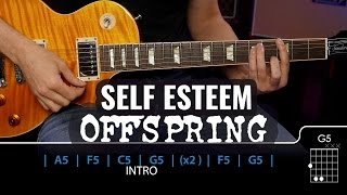Cómo tocar Self Esteem de OFFSPRING! Rock fácil | Guitarraviva