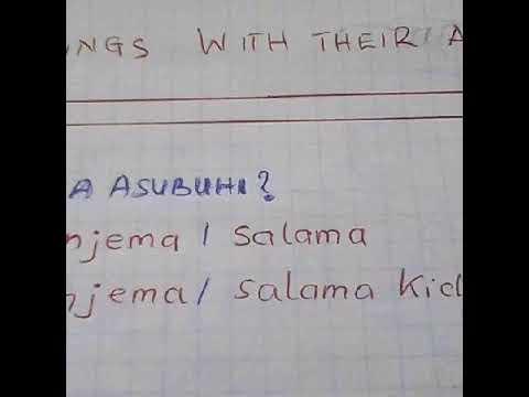 Learning Swahili online:Swahili for beginners: Greetings of kiswahili