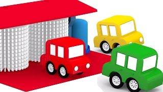 Lehrreicher Zeichentrickfilm - Die 4 kleinen Autos - Wer hat das Gold geklaut?