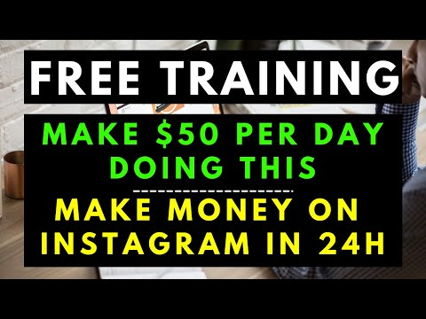[$50 per day] How To Make Money On Instagram As A Beginner | Make Money Online