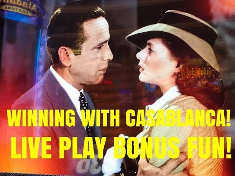 WINNING IN CASABLANCA! SLOT MACHINE LIVE PLAY