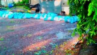 preview picture of video 'Powódź Zamość osiedle Karolówka - skutki opadów 16.05.2014'