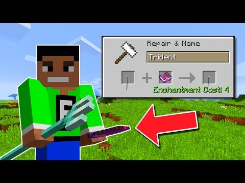 MINECRAFT UPDATE AQUATIC - CHANNELING ENCHANTMENT - MAKE