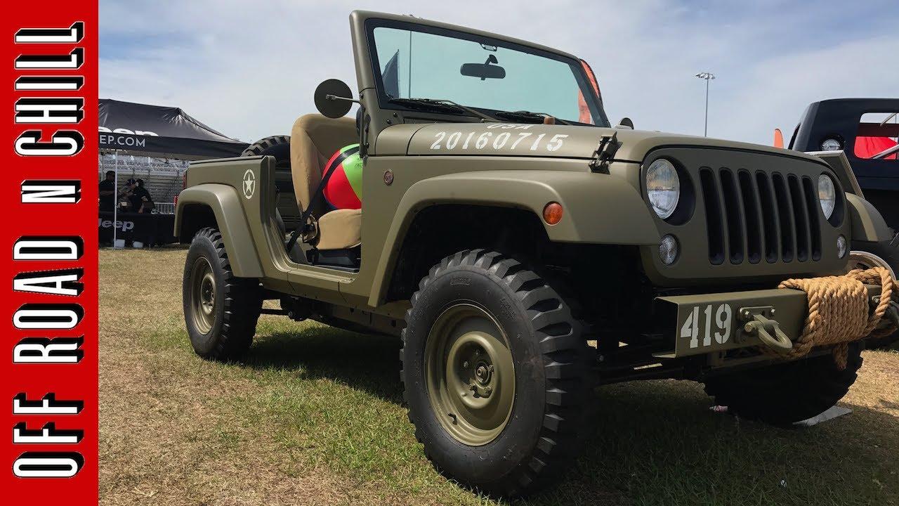 Jeep Wrangler 75e Salute Concept Histoire