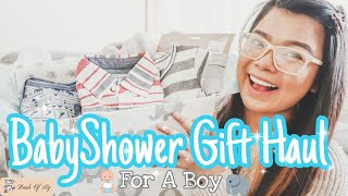 BabyShower Gift Haul For A Boy! | Simple & Cute Gift Basket Idea For A Baby Shower | Dash Of Liz