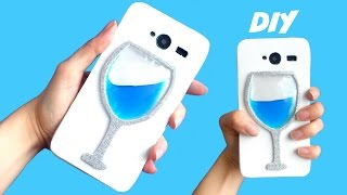 DIY LIQUID WINE GLASS PHONE CASE