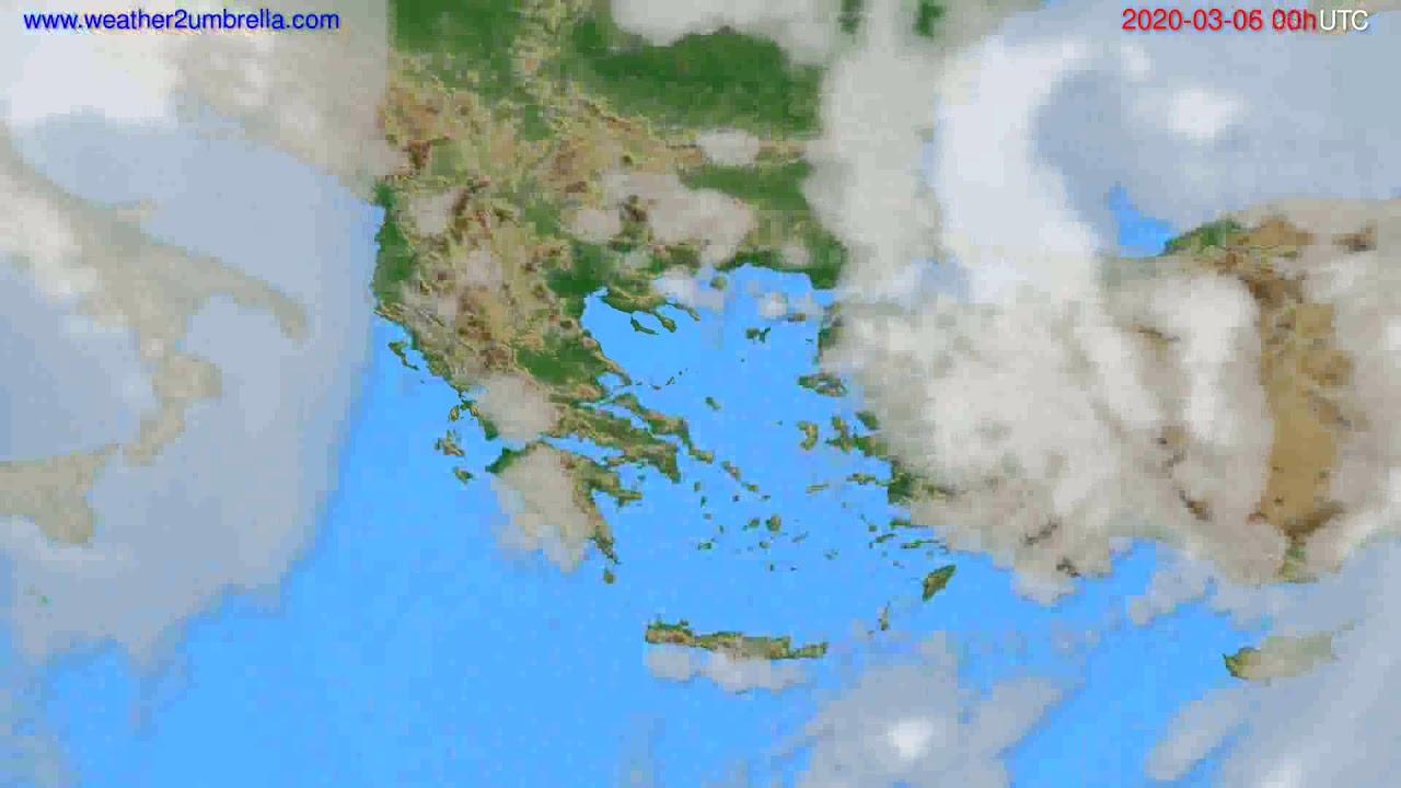Cloud forecast Greece // modelrun: 00h UTC 2020-03-05