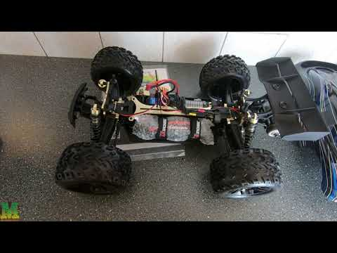 Unboxing JLB Racing CHEETAH 120A Upgrade 1/10 Brushless RC Car Truggy 21101 RTR RC Toys