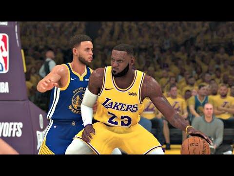 NBA 2K20 Gameplay - Golden State Warriors vs Los Angeles Lakers – Playoffs (12 Min Quarters) PS4