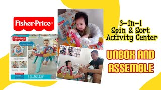 3-IN-1 SPIN & SORT ACTIVITY CENTER | FISHER PRICE | UNBOX AND ASSEMBLE | STORIES OF MAMA NINY