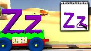 Kids Learn ABC Train with Crayons - Learn Letters | ABC SONG, Kids Learning Nursery Rhymes and ABCD