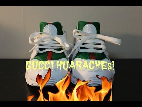 los angeles 0f83d 46134 Custom Gucci Pair of Nike Air Huarache Blance - enfantstore blog Boutique  Enfant Officiel.