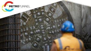 Metro Tunnel works at Parkville