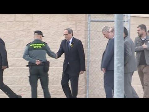 Torra llega a Estremera donde inicia la visita a los presos independentistas