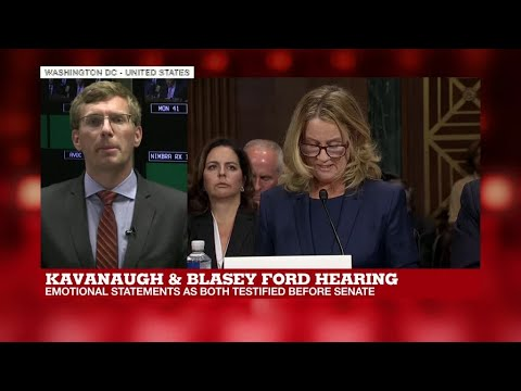 Trump praises 'honest' Kavanaugh after dramatic US Senate hearing