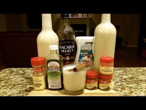 How To Make COQUITO ★Puerto Rican Stye Caribbean Eggnog★ (Recipe Included) DJs BrewTube Beer Review