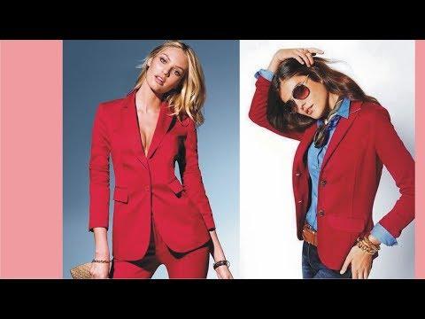 Trend Red Blazer For Women