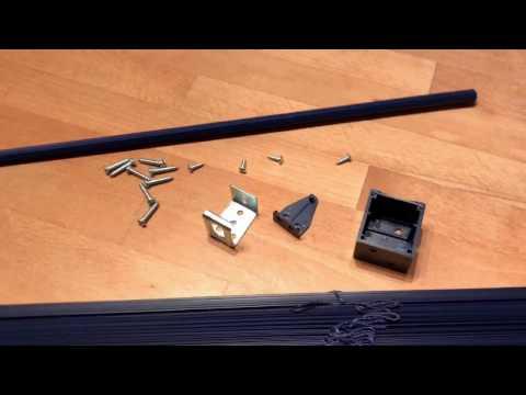Liedeco Jalousie aus Kunststoff, 220 cm Länge, orientblau B 100 cm unboxing und Anleitung