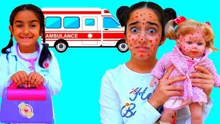 Little Doctor Esma Pretend play with  cute patient doll